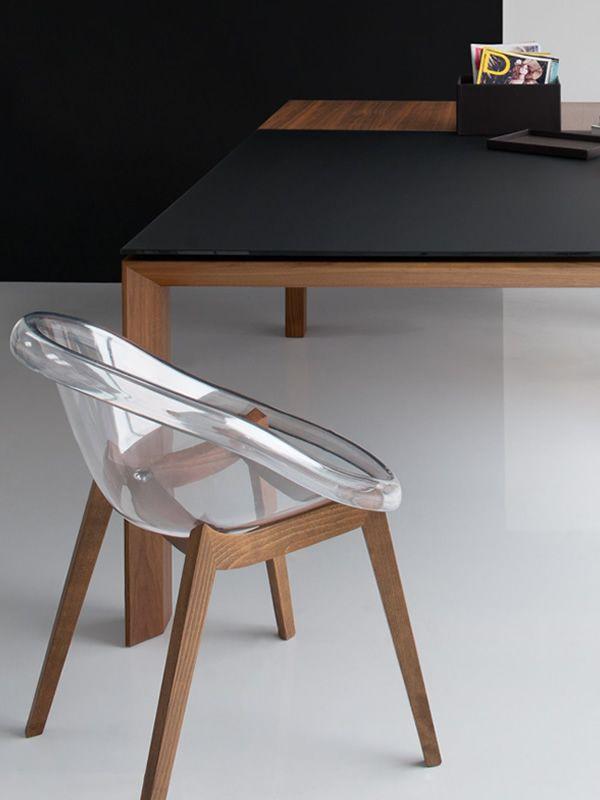 cs1389 bloom w fauteuil calligaris en bois et polycarbonate sediarreda. Black Bedroom Furniture Sets. Home Design Ideas