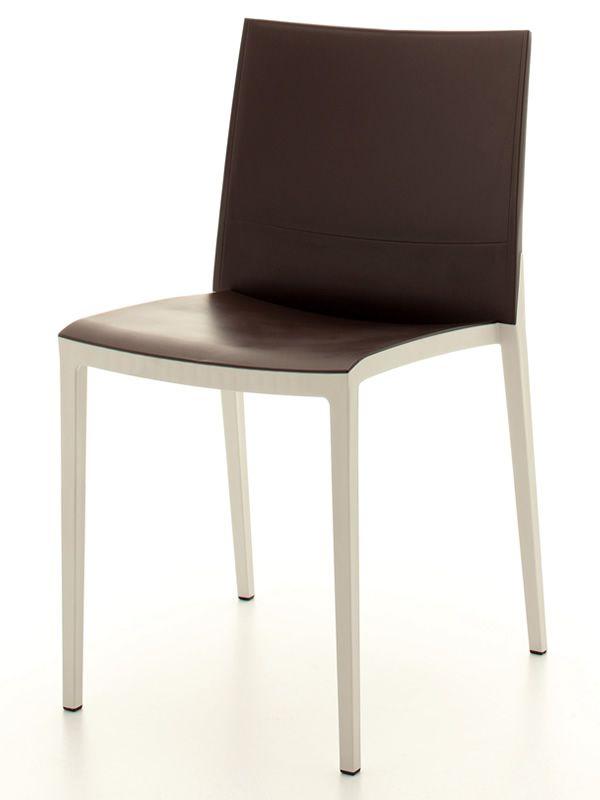 Over sedia bicolore impilabile in tecnopolimero adatta for Sedia design marrone