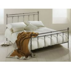 Anna - Double bed in wrought-iron, available in several colours