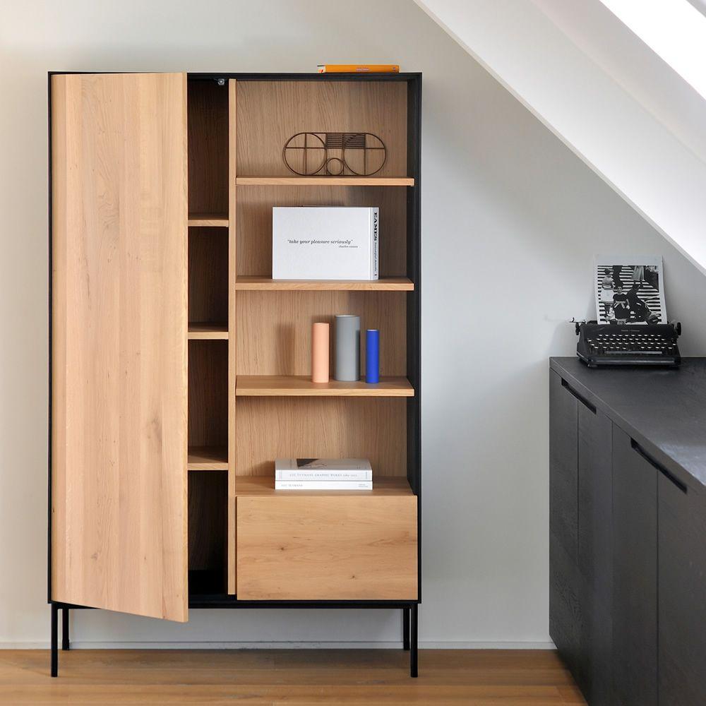 Blackbird b mobile soggiorno libreria ethnicraft in for Soggiorno in legno