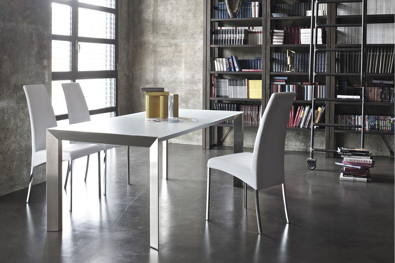 genio designer tisch bontempi casa aus aluminium platte. Black Bedroom Furniture Sets. Home Design Ideas