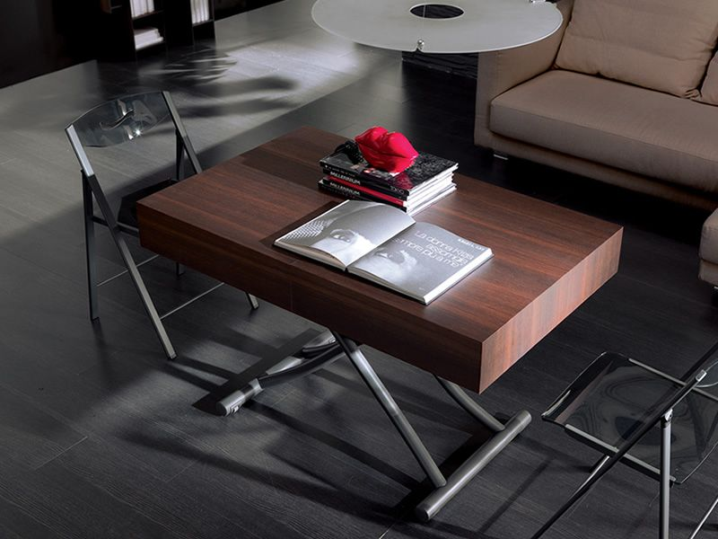 Box legno modern table in metal 120x75 cm top for Table transformable conforama