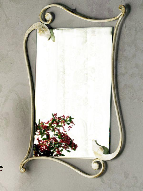 Eleonora specchio rettangolare in ferro disponibile in for Specchio in ferro battuto
