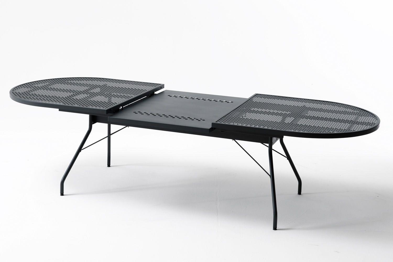 rig33 table rallonge en m tal en diff rents dimensions pour le jardin sediarreda. Black Bedroom Furniture Sets. Home Design Ideas