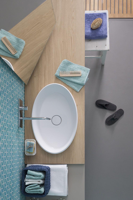 45 B - Mobile bagno sospeso con lavabo, 2 cassetti, disponibile in ...