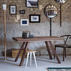 Ettore - Tavolo rettangolare Miniforms in legno, allungabile, diverse dimensioni disponibili
