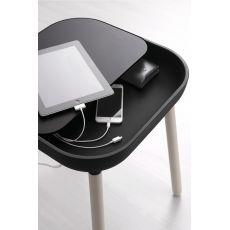 App-S - Tavolino Domitalia in legno, piano in poliuretano e MDF laccato, diversi colori disponibili