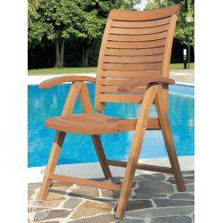 Mirage bf fauteuil pour jardin en bois robinier avec for Chaise 7900