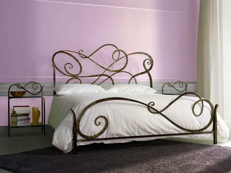 Aura - Cama matrimonial de hierro forjado, disponible en varios ...