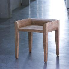 Cuba - Sgabello basso Ethnicraft in teak, altezza seduta 45 cm