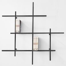Libra - Wall bookcase in metal, available in several colours