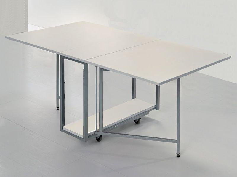 archimede c consolle con tavolo pieghevole 170 x 90 cm diversi colori sediarreda. Black Bedroom Furniture Sets. Home Design Ideas