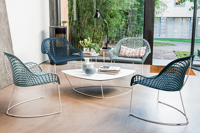 Guapa ct tavolino midj in metallo e cuoio naturale for Tavolini di design