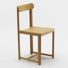 Seleri C - Wooden bar chair, with padded or wooden seat, available in several colours