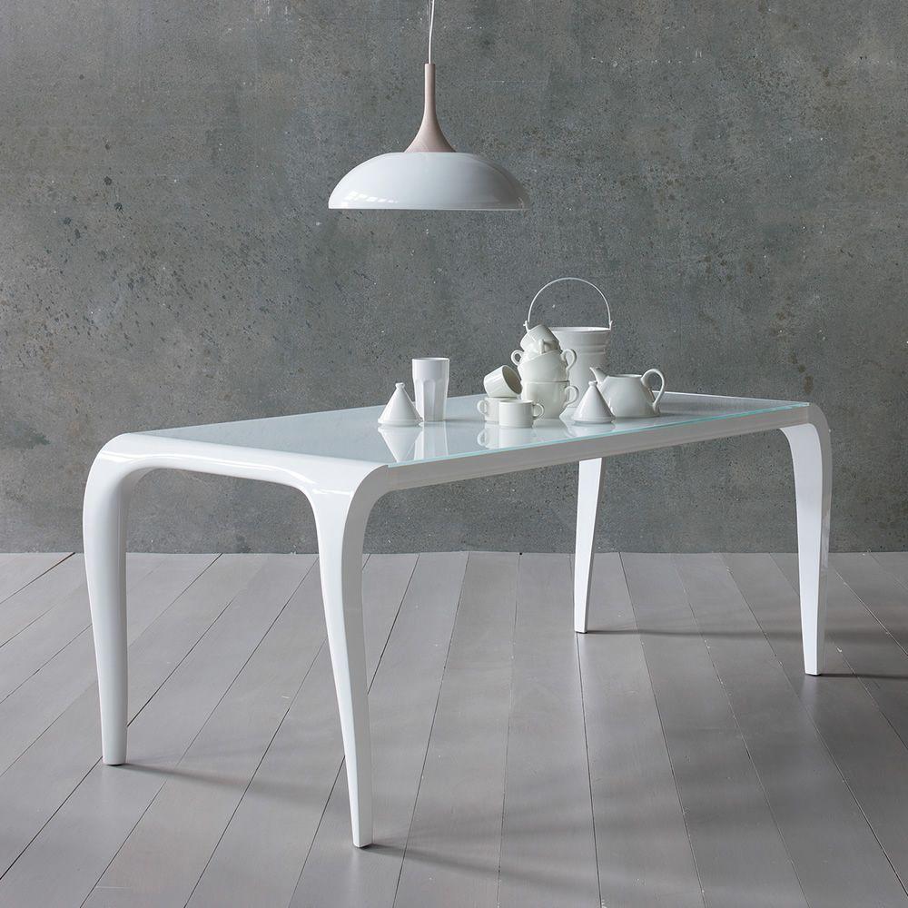 Aristocrito - Tavolo di design in poliuretano, fisso o allungabile ...
