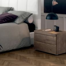 Kart-N - Dall'Agnese night stand made of wood, different finishes and sizes available, two drawers