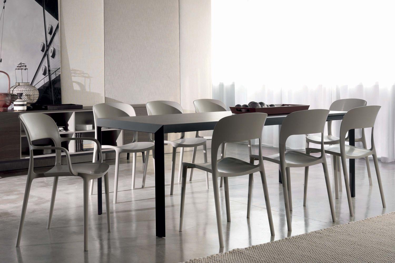 Gipsy stapelbarer stuhl bontempi casa mit oder ohne armlehnen