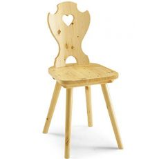 AV101 - Country stile chair in pine wood, several colours
