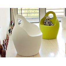 Babà Jr - Pouf - Sillón Domitalia para niños, de polietileno, disponible en varios colores, también para jardín