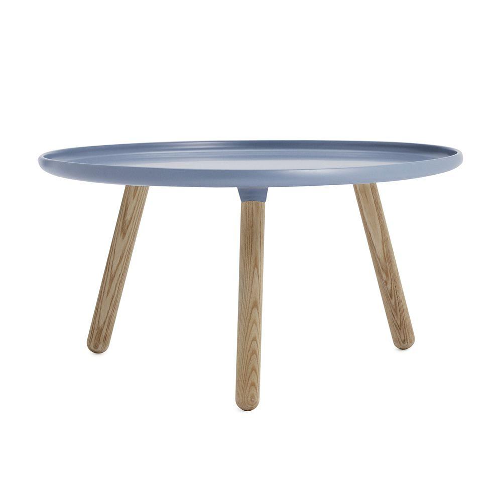 tablo runder beistelltisch normann copenhagen aus holz mit platte aus kunststoff. Black Bedroom Furniture Sets. Home Design Ideas