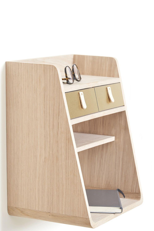 Suzon mueble de pared en madera con dos cajones sediarreda for Muebles con cajones de madera