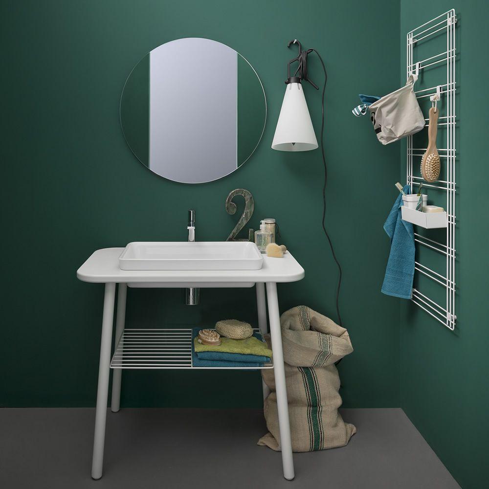Sapone griglia porta accessori in metallo disponibile in diversi colori sediarreda - Specchio da porta ...