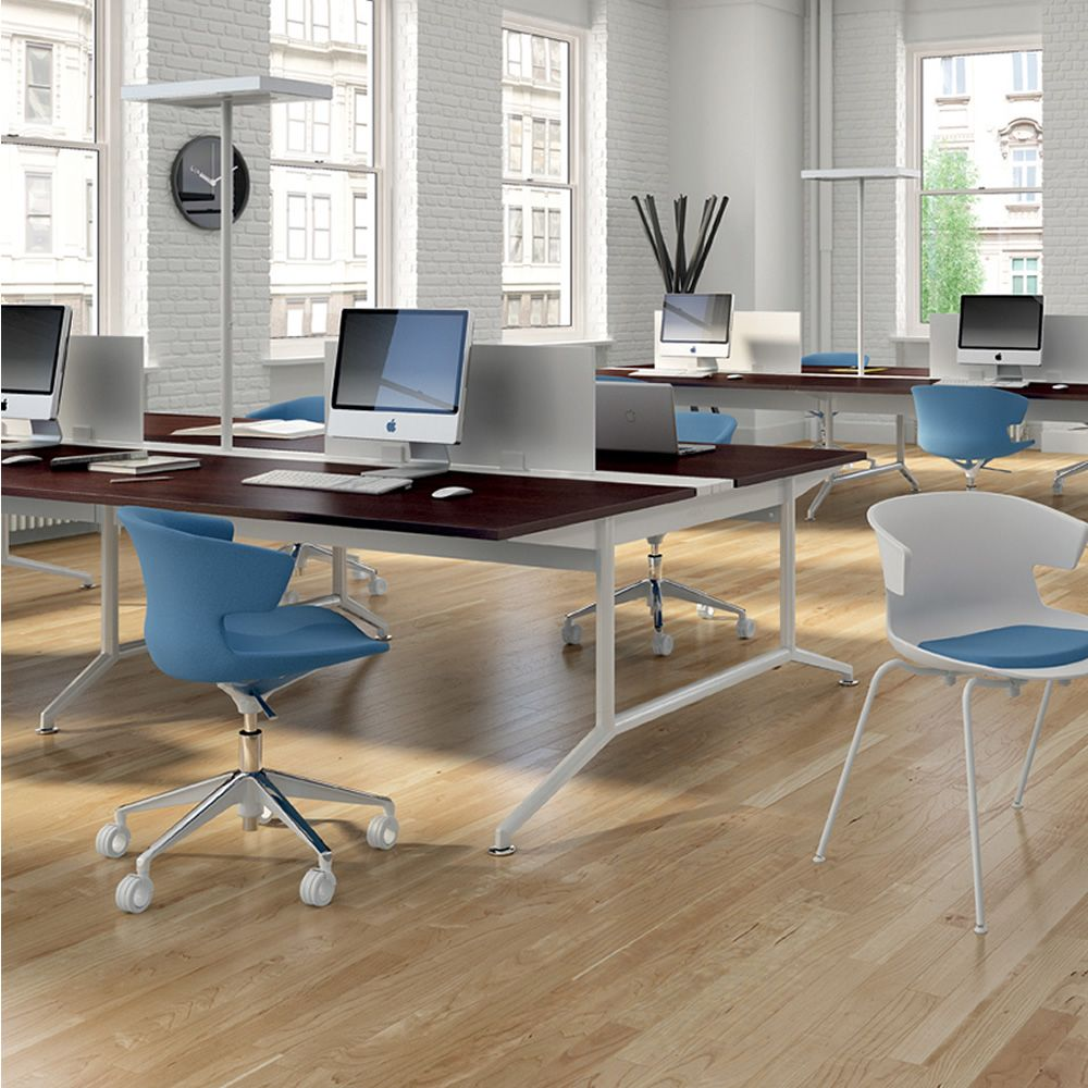 cove op soft drehsessel f r b ro mit rollen aus metall mit gepolsterter sitzfl che mit. Black Bedroom Furniture Sets. Home Design Ideas