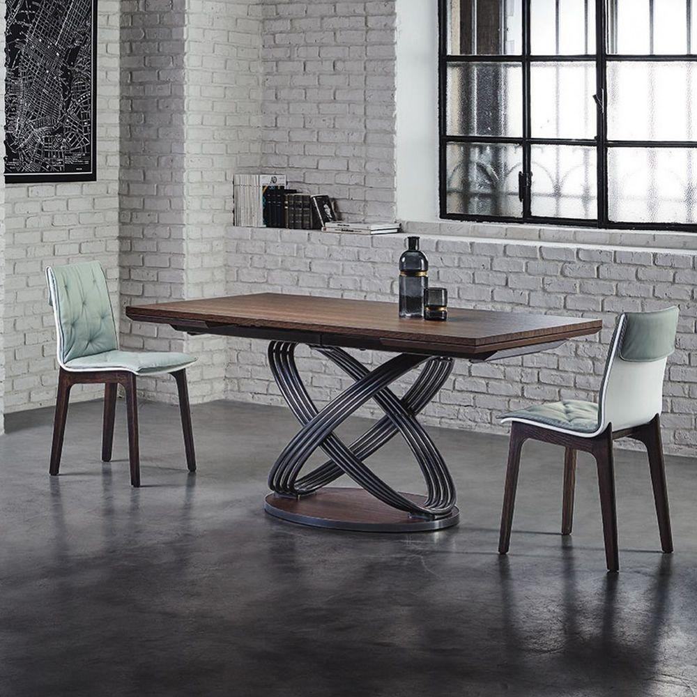Fusion rw tavolo di design di bontempi casa in metallo for Tavolo di design in metallo