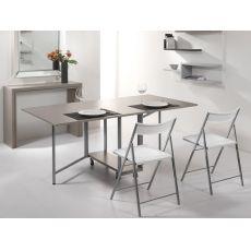 Archimede Set - Set consolle con tavolo pieghevole 170 x 90 cm e 6 sedie, diversi colori