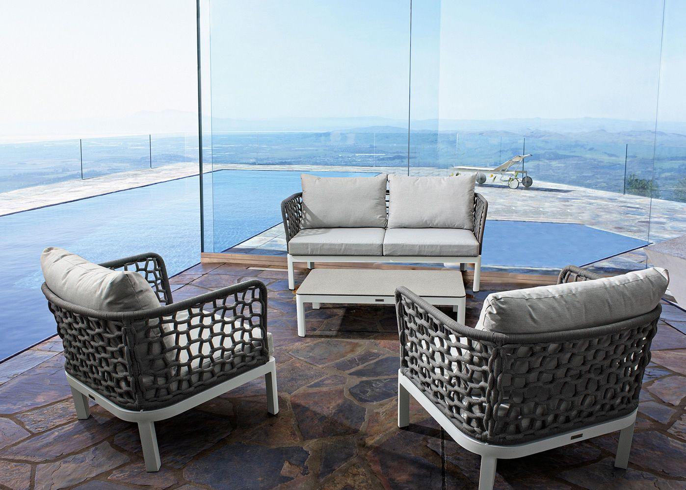 Zante d divano da giardino in alluminio con corde for Divanetto giardino offerta