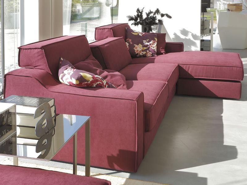 benz reversibles chaiselongue sofa mit beweglichen kissen. Black Bedroom Furniture Sets. Home Design Ideas