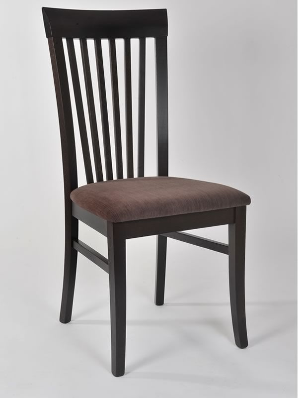 Mu100 silla moderna en madera con asiento acolchado for Sillas de madera modernas