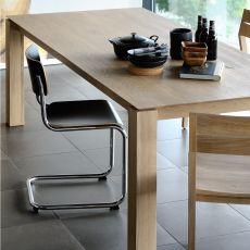 Slice - Tavolo fisso Ethnicraft in legno, diverse finiture e misure disponibili