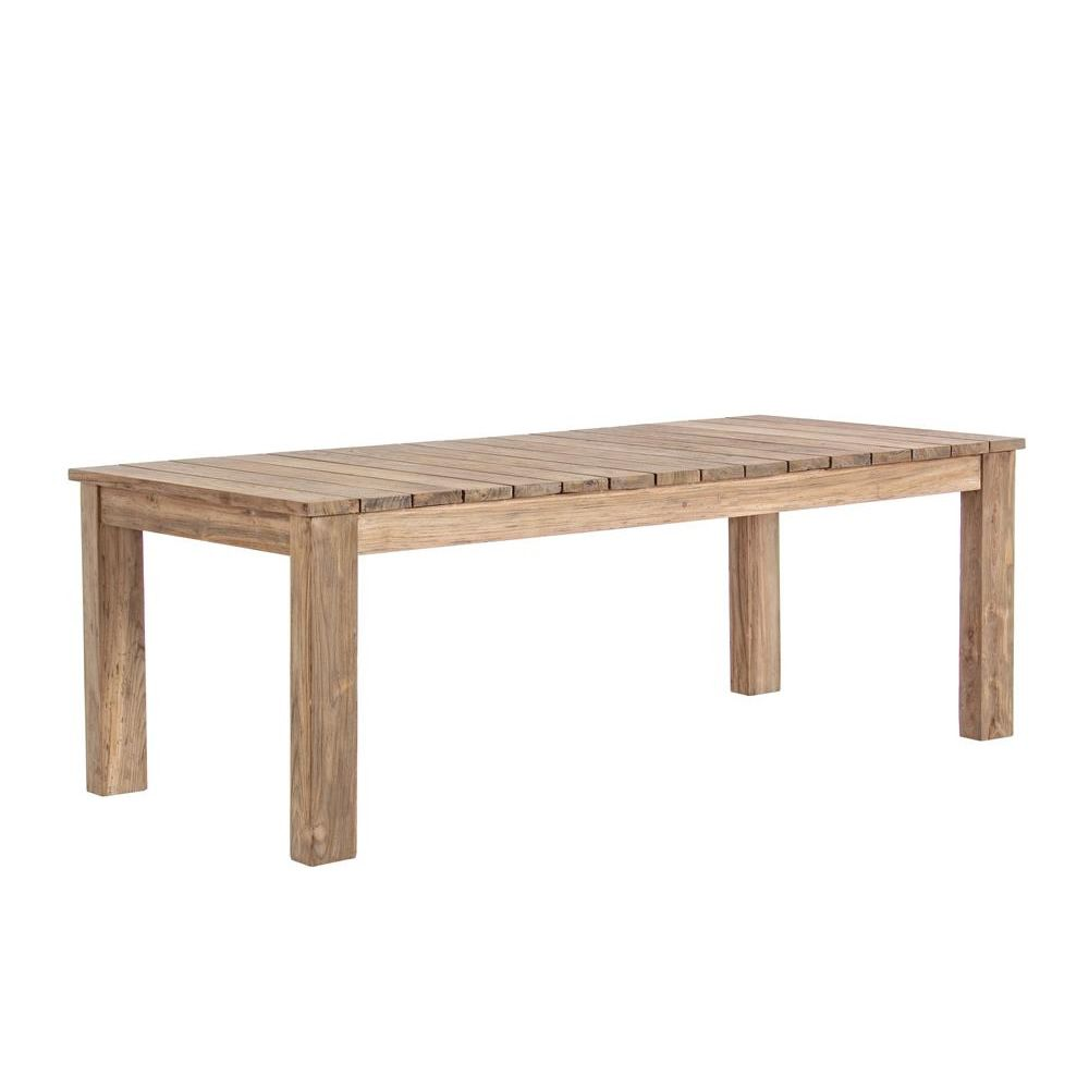 Nevis table extensible en teck 220x100 cm id ale l - Table en teck recycle ...