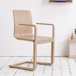 Mojo - Sedia Ton con braccioli, in legno, con seduta in legno ...