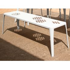 Pattern B - Emu bench made of metal, for garden, stackable, in several colours