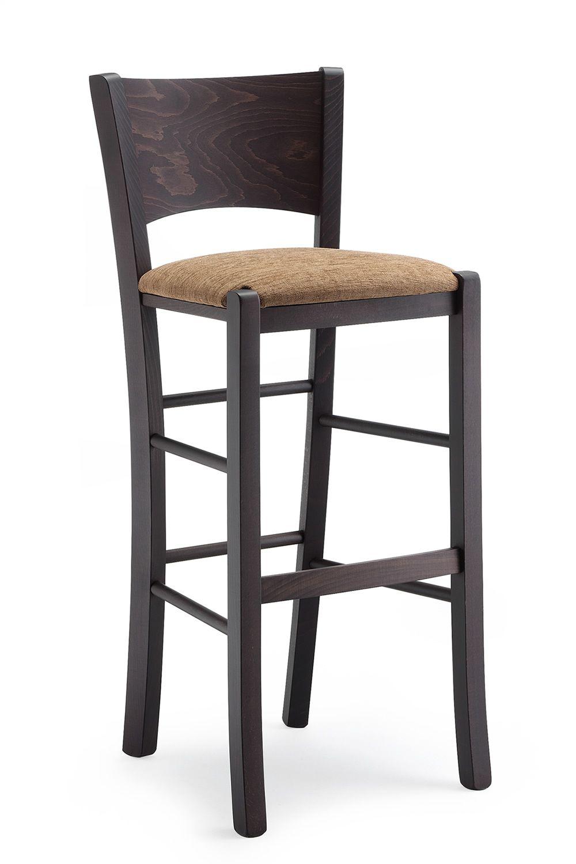 Mu80 s per bar e ristoranti   sgabello alto rustico in legno ...