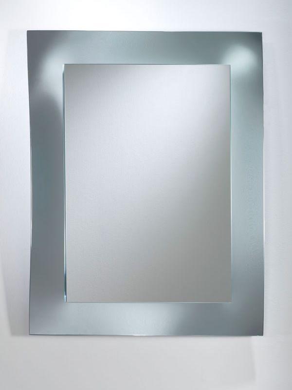 Due F - Mobile ingresso con due cassetti, specchio e mensola in vetro - Sediarreda