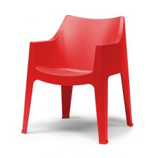 Coccolona P 2320 - Stackable armchair in technopolymer, different colours, also for outdoor