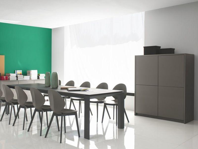 cb6031 4 password hohem bel anrichte connubia calligaris aus lackiertem holz 125 x 52 cm. Black Bedroom Furniture Sets. Home Design Ideas
