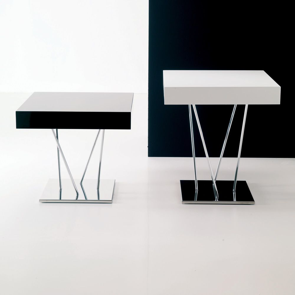 ginger bontempi casa design side table in metal with wooden top available in different. Black Bedroom Furniture Sets. Home Design Ideas