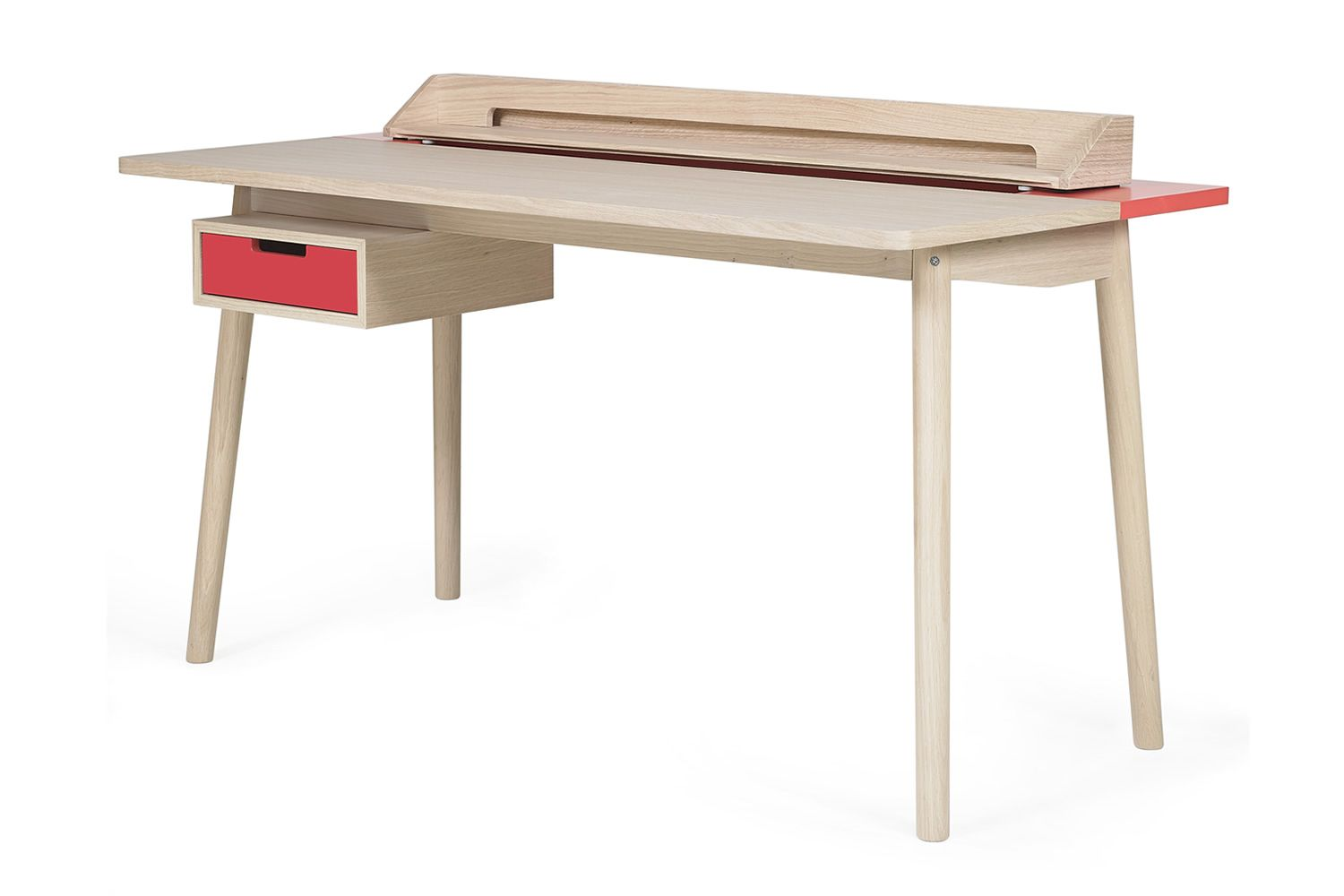Honoré design work desk in wood and mdf with drawers and