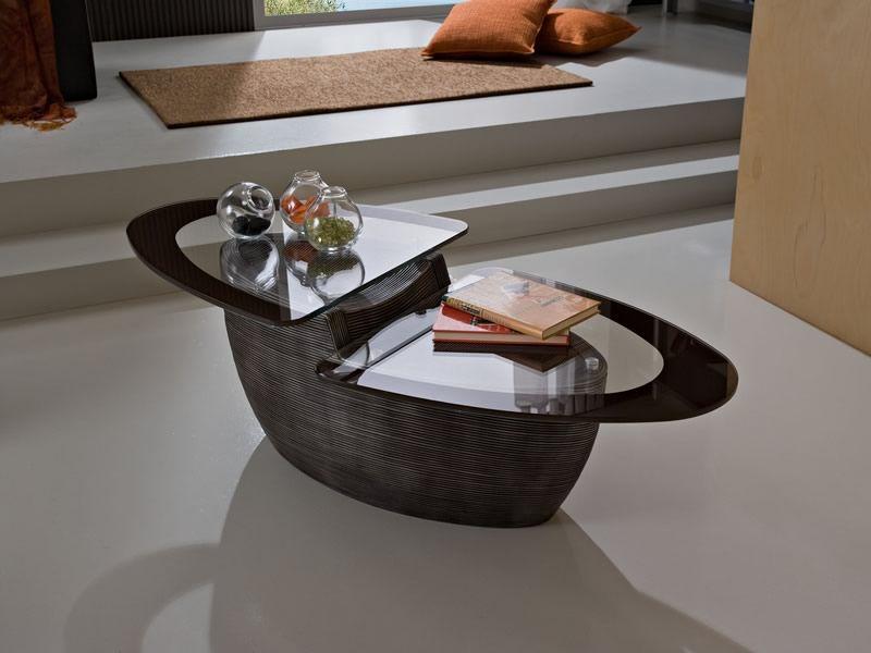 pa37 - tavolino in vetro e ceramica, disponibile in diversi colori ... - Tavolini Soggiorno Wenge