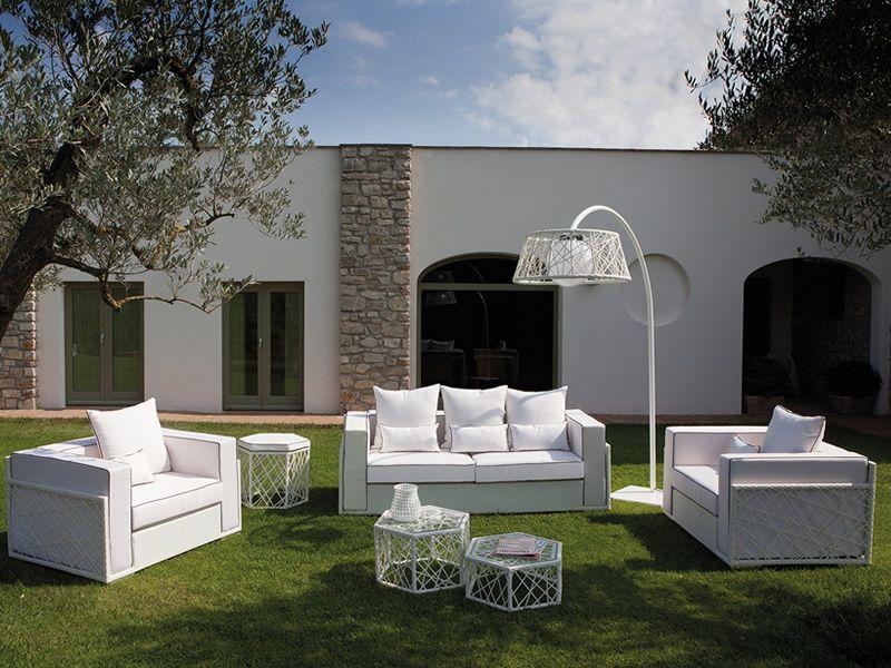 Spider set set design da giardino divano 2 poltrone 2 for Divano per terrazzo