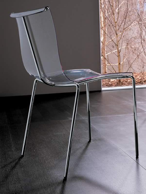Md009 silla apilable de metal asiento de madera o - Sillas de policarbonato ...