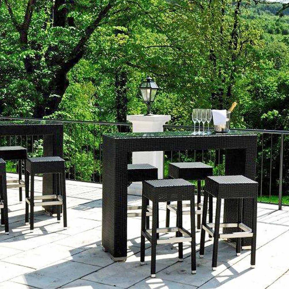 ar bt2 f r bars und restaurants hoher gartentisch f r bar und restaurant aus aluminium und. Black Bedroom Furniture Sets. Home Design Ideas