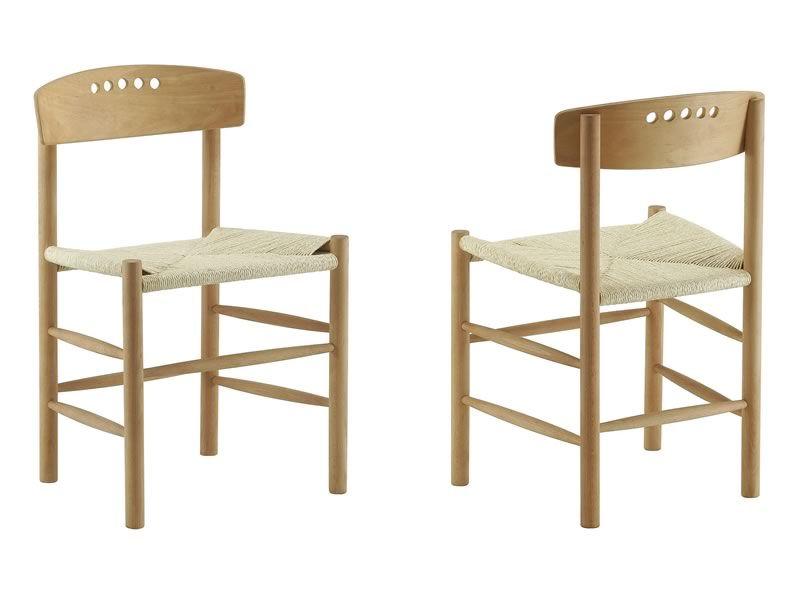 ... - Sedia ecologica in legno, seduta impagliata a mano - Sediarreda
