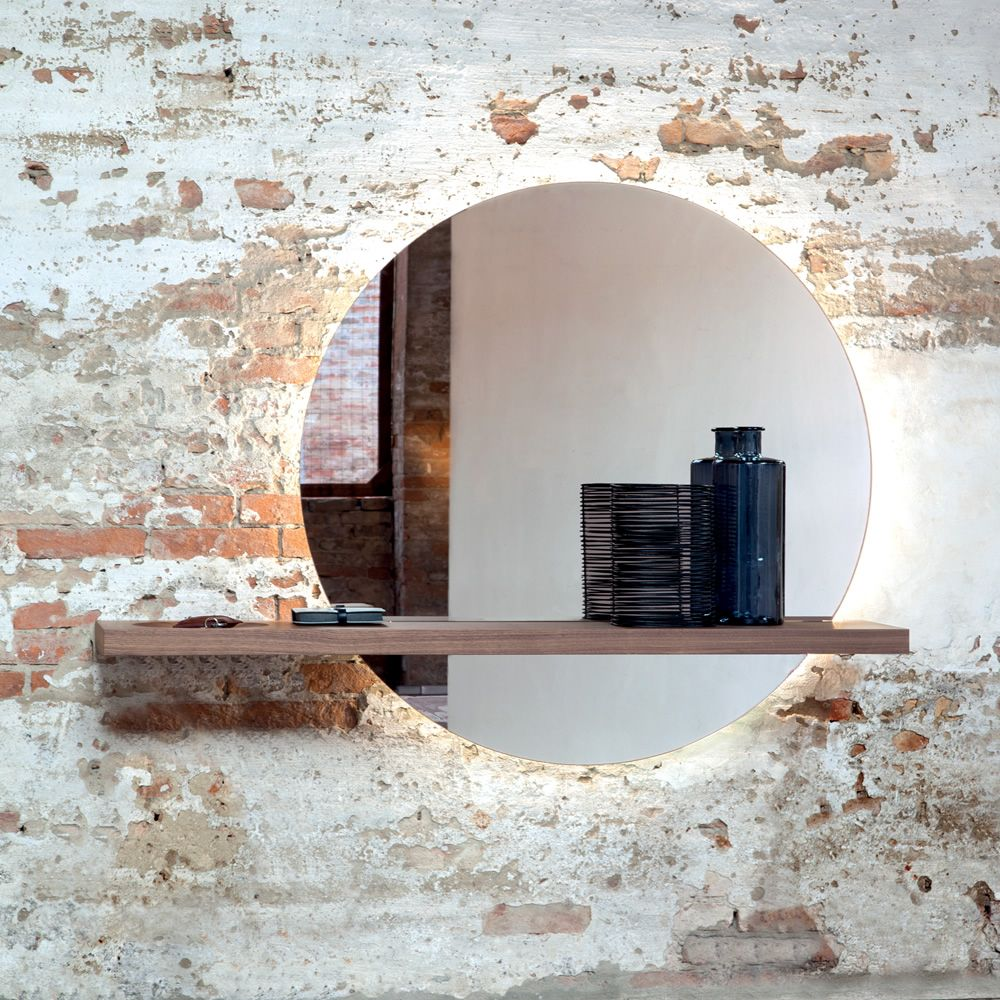 Sunset 7501 specchio tonin casa con mensola in legno - Specchio con mensola ...