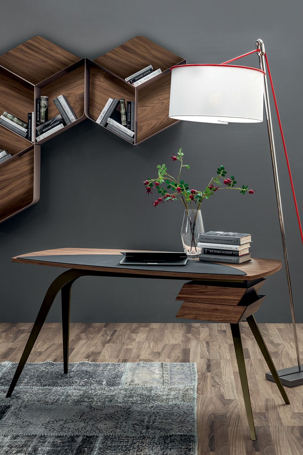 logos 7005 bureau tonin casa en m tal avec plateau en bois sediarreda. Black Bedroom Furniture Sets. Home Design Ideas