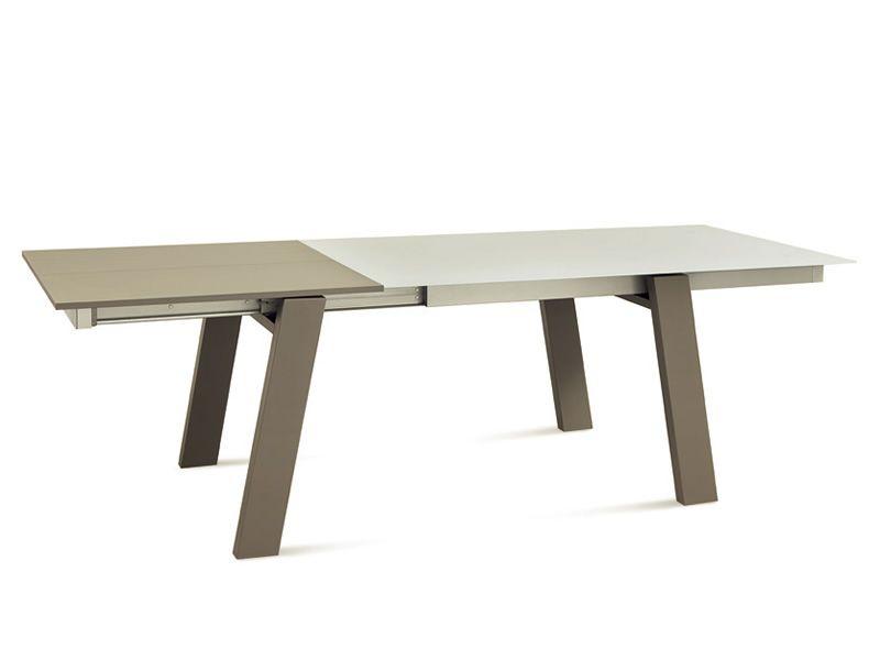 must tisch domitalia aus holz glasplatte 160x95 cm verl ngerbar sediarreda. Black Bedroom Furniture Sets. Home Design Ideas
